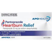ApoHealth Pantoprazole Heartburn Relief 20mg 7 Tablets (S2)