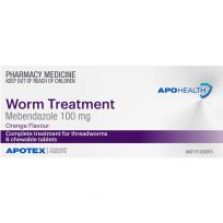 ApoHealth Worm Treatment Chewable 6 Tablets (S2)