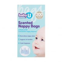 babyU Scented Nappy Bags 200 Pack