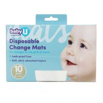 babyU Baby Disposable Change Mats 10 Pack
