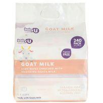 babyU Goats Milk Baby Wipes 240 Pack