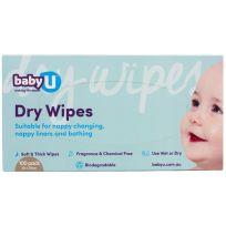 babyU Dry Wipes 100 Pack