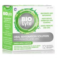 BIOLyte Oral Rehydration Solution Green Apple 12 Sachets