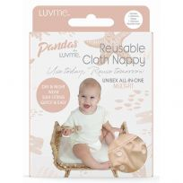 Pandas by LuvMe Cloth Nappy with Insert Barley