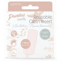 Pandas by LuvMe Cloth Nappy Night Insert Liner 1 Pack