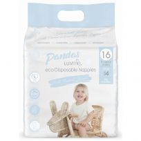 Pandas by LuvMe Eco Nappies Large 16 Pack Unisex