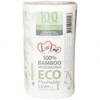 Luvme Eco Bamboo Biodegradable Flushable Liners 100 Pack