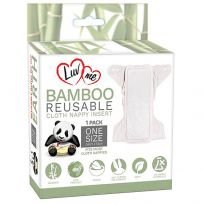 LuvMe Eco Bamboo Reusable Cloth Liner Insert 1 Pack