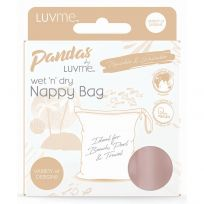 Pandas by LuvMe Wet n Dry Nappy Bag Dark Blush