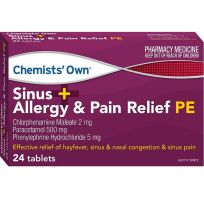 Chemists' Own Sinus + Allergy & Pain Relief PE 24 Tablets