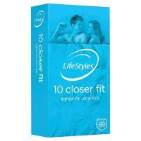 Lifestyle Condom Closer Fit 10 Pack