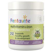 Pentavite Multivitamin + Iron Kids Chewables 60 Tablets