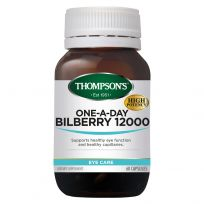 Thompson's Bilberry 12000mg One-A-Day 60 Capsules