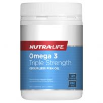 Nutra Life Omega 3 Triple Strength Odourless Fish Oil 150 Capsules
