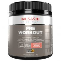 Musashi Pre Workout Powder Tropical Punch 225g