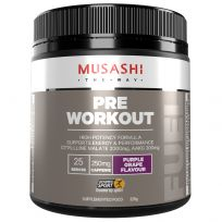 Musashi Pre Workout Powder Purple Grape 225g