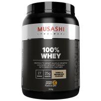 Musashi 100% Whey Protein Powder Vanilla Milkshake 900g