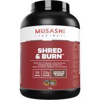 Musashi Shred and Burn Protein Powder Chocolate 2kg