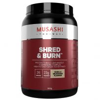 Musashi Shred and Burn Protein Powder Vanilla 900g