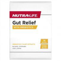 Nutra Life Gut Relief Powder Prebiotic Sachets 14 Pack