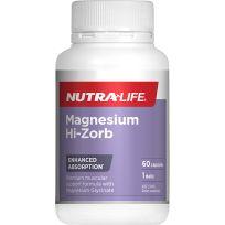 Nutra Life Magnesium Hi Zorb 60 Capsules