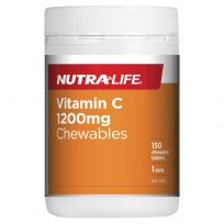 Nutra Life Vitamin C 1200Mg 150 Chewable Tablets