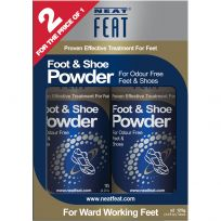 Neat Feat Foot & Shoe Powder 125g Twin Pack