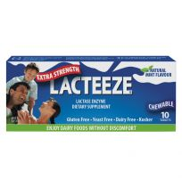 Lacteeze Extra Strength Mint Flavour 10 Chewable Tablets