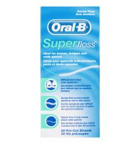 Oral B Superfloss Dental Floss Pre-Cut Strands 50 Pack
