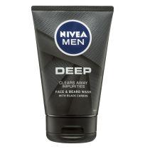 Nivea Men Deep Face & Beard Wash 100ml