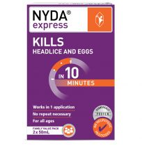 Brauer Nyda Express Head Lice Treatment Family Value Pack 2 x 50ml