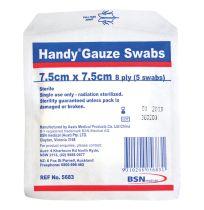 Handy Gauze Swab Sterile 7.5cm 5 Pack 5683