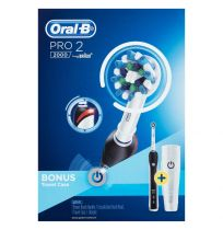 Oral B Professional Care 2000 Black Toothbrush + Travel Case