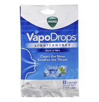 Vicks VapoDrops Liquicentres Burst of Mint 22 Drops