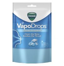 Vicks VapoDrops Lozenges Cooling Peppermint 24 Pack