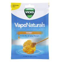 Vicks VapoNaturals Drops Honey Resealable Bag 70g