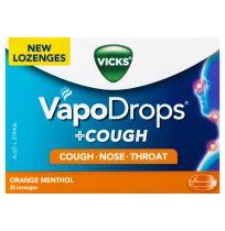 Vicks VapoDrops + Cough Lozenges Orange Menthol 36 Pack
