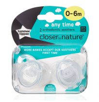 Tommee Tippee Soothers Any Time 0-6 Months 2 Pack