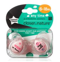 Tommee Tippee Soothers Any Time 6-18 Months 2 Pack