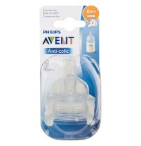 Philips Avent Classic Teats Fast Flow 6 Month + 2 Pack