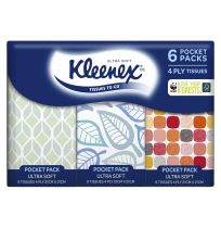 Kleenex Ultra Soft Pocket Tissues 6 Pocket Pack