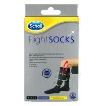 Scholl Flight Sox Black Size 9-12 (1 Pair)