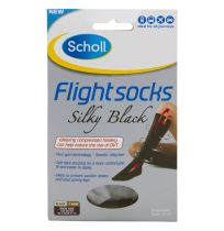 Scholl Flight Sox Ladies Silky Black Size 6-8 (1 Pair)