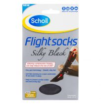 Scholl Flight Sox Ladies Silky Black Size 8-10 (1 Pair)