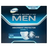 Tena Men Absorbent Protector Level 1 Light 12 Pack