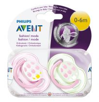 Avent Soothers 0-6 Months Fashion Design 2 Pack