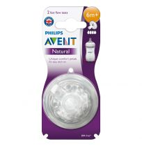 Avent Natural Teats Fast Flow 6 Months + 2 Pack