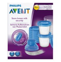 Philips Avent Breast Milk Storage Cups 10 Pack Reusable Containers