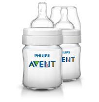 Avent Classic Feeding Bottles 0 Month + 125ml 2 Pack