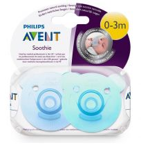 Avent Soothers Bear Soothie 0-3 Months 2 Pack